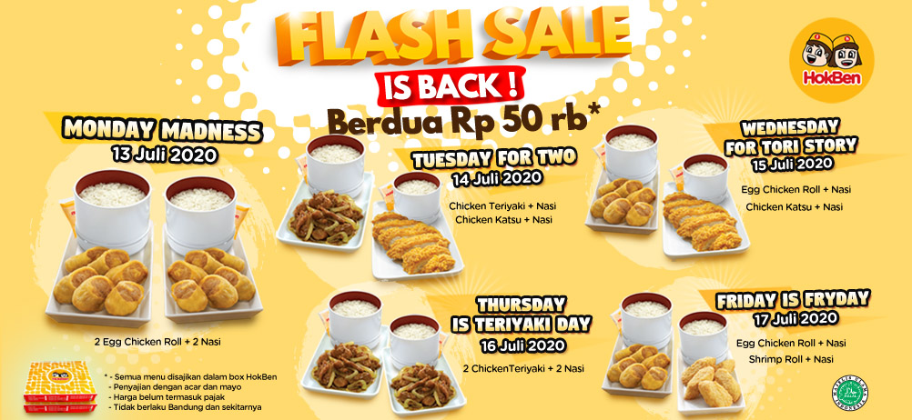 FLASH SALE IS BACK!